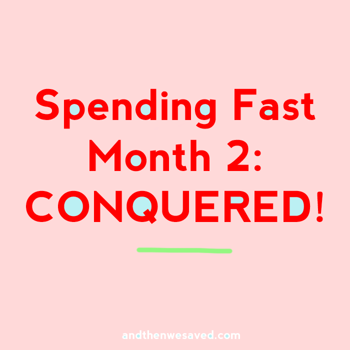 spending fast month 2 progress report andthenwesaved.com