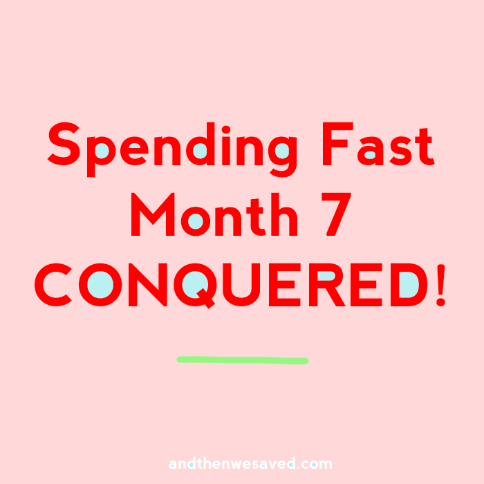 spending fast month 7 progress report andthenwesaved.com