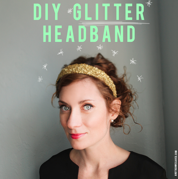 how to make a glitter headband