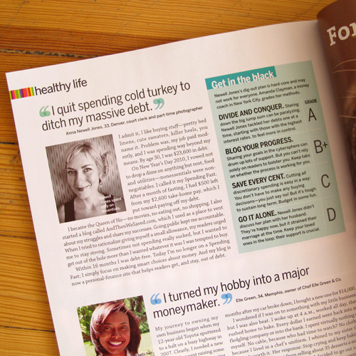 anna newell jones self magazine article jan 2013