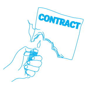 burning contract ting
