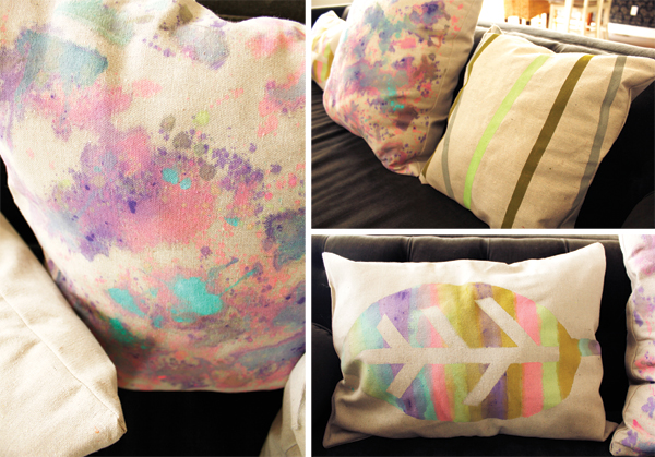 DIY Painted Pillow