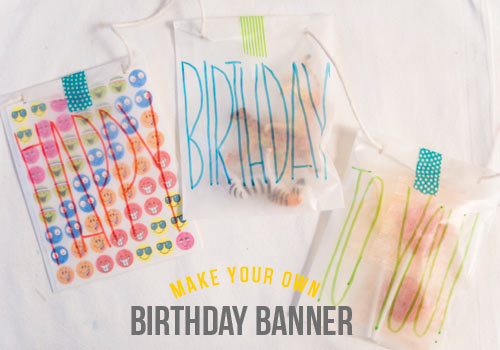 diy birthday card banner