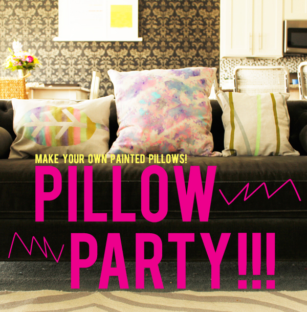 painted pillows diy
