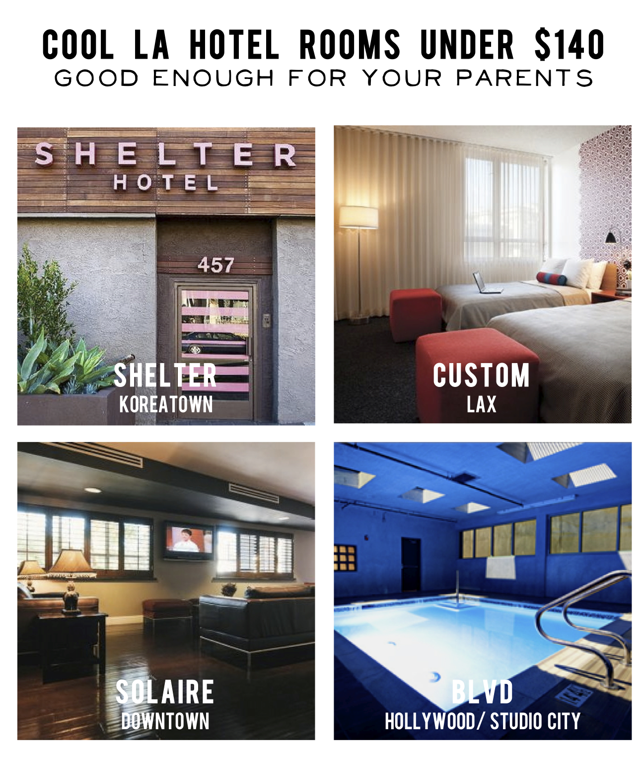 Cool, cheap LA hotels