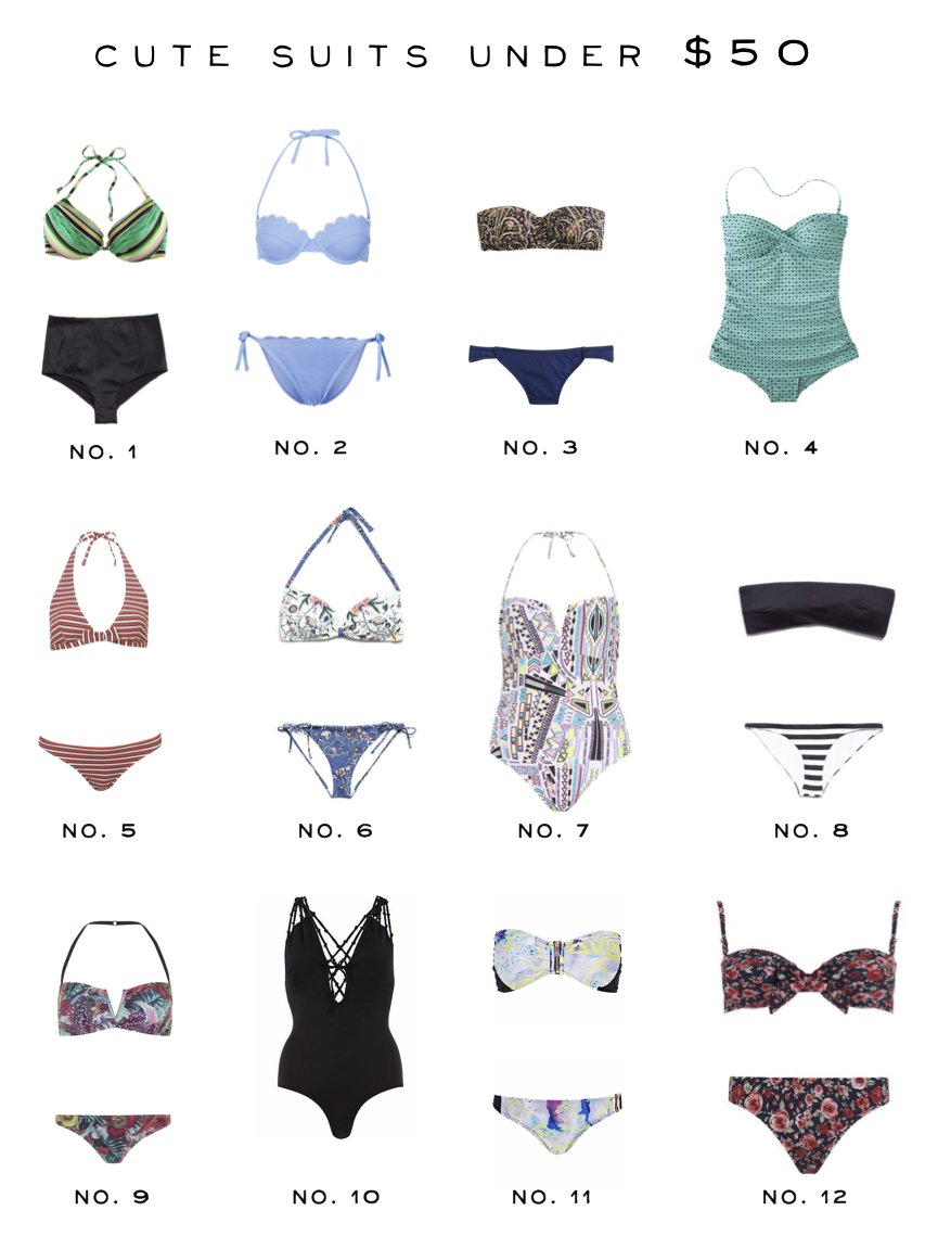 Cute Swimsuits Under $50
