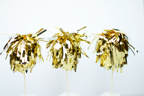 Gold cupcake toppers | And Then We Saved