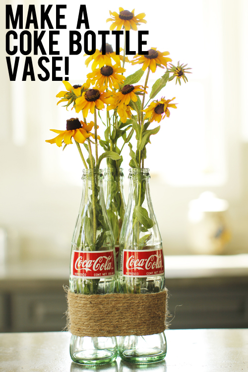 make a coke bottle vase
