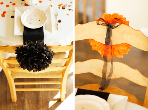 DIY Pom Chair Decorations
