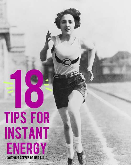 tips for instant energy