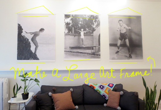 large art frame diy - Diy Large Picture Frame