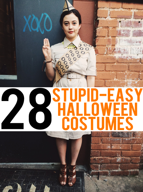 28 stupid easy halloween costumes