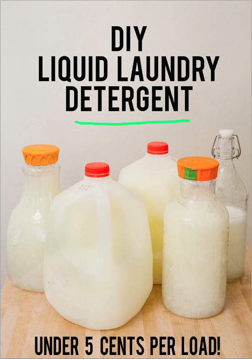 DIY liquid laundry detergent andthenwesaved.com