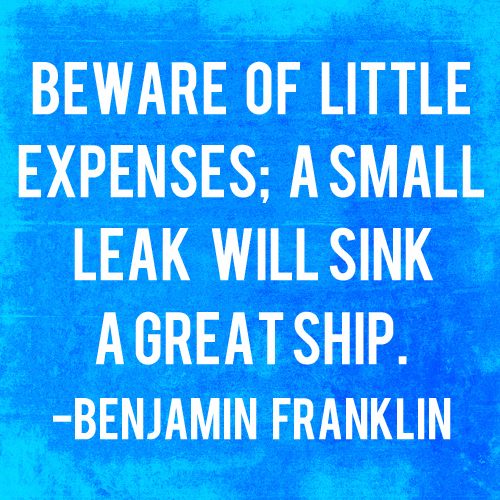 Beware of Little Expenses   AndThenWeSaved.com