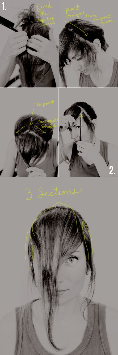 How To Cut Your Own Thick Bangs A Tutorial And Then We Saved