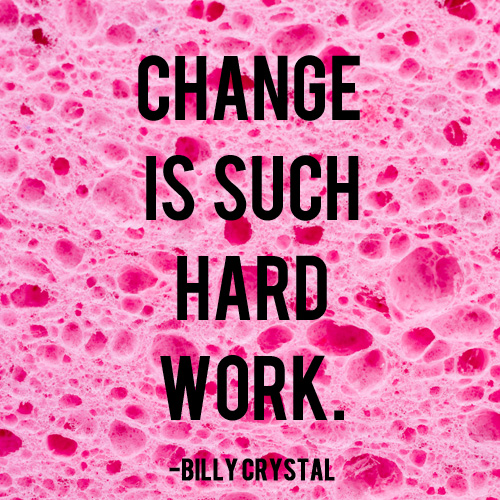 Change is Such Hard Work | AndThenWeSaved.com