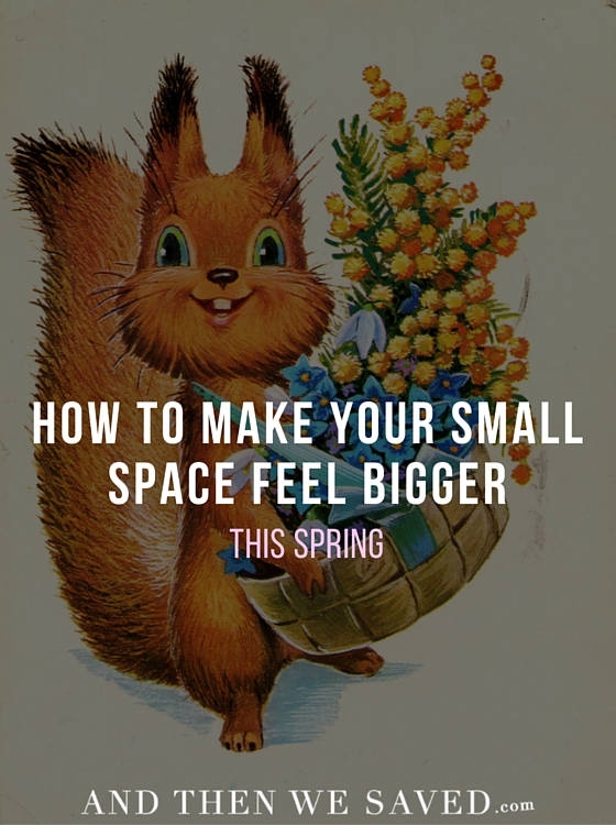 How to Make Your Small Space Feel Bigger This Spring | AndThenWeSaved.com