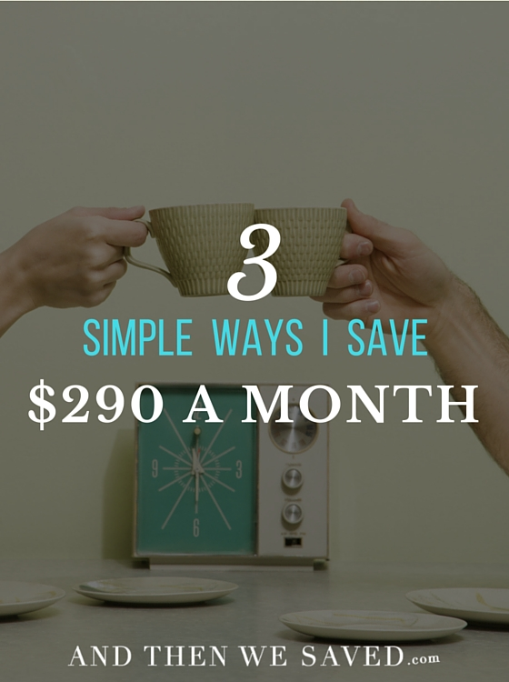 3 Simple Ways to Save $290 a Month | AndThenWeSaved.com