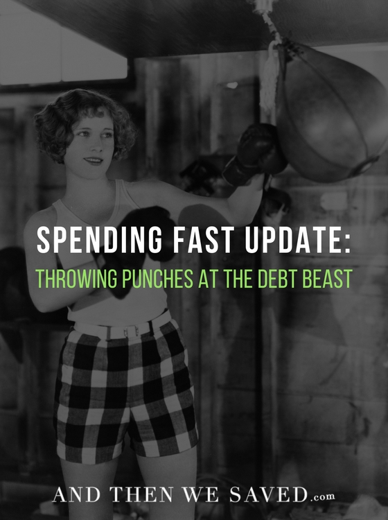 Spending Fast Update: Throwing Punches at the Debt Beast | AndThenWeSaved.com