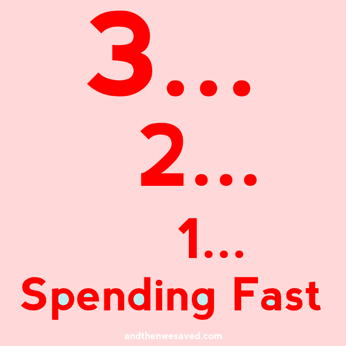 it's time for the spending fast andthenwesaved.com