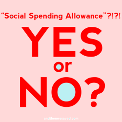 spending fast social spending allowance yes or no andthenwesaved.com