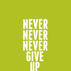 never give up winston churchill pay off debt fast