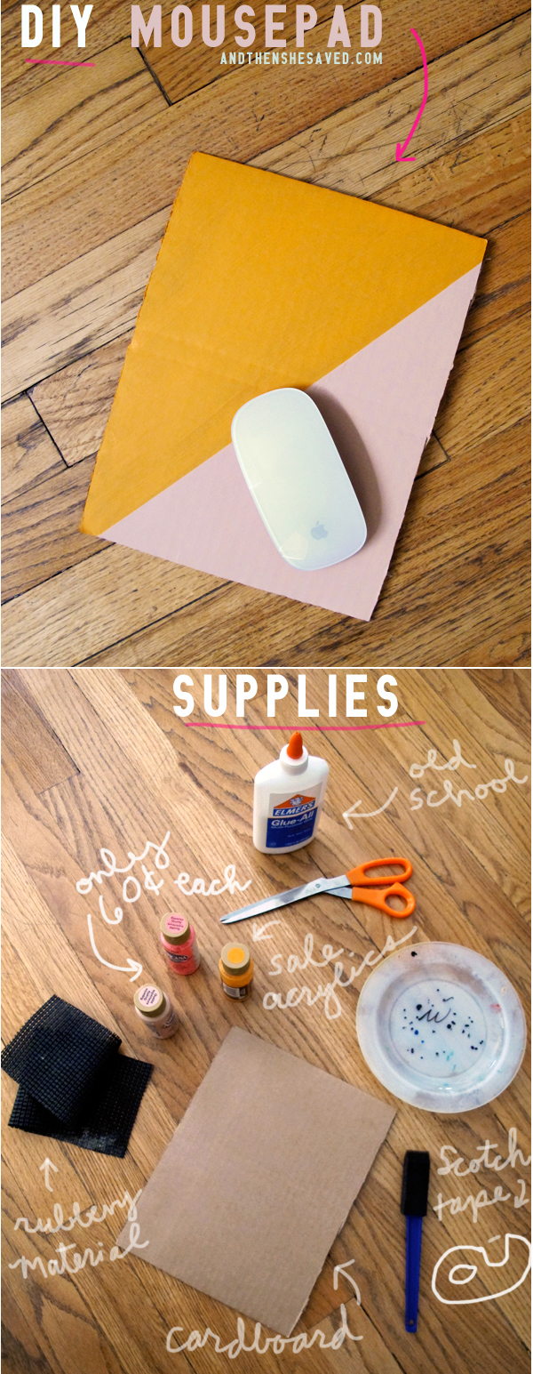 make your own mousepad diy tutorial and then we saved. Black Bedroom Furniture Sets. Home Design Ideas
