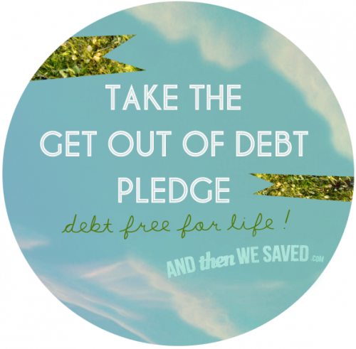 get out of debt pledge