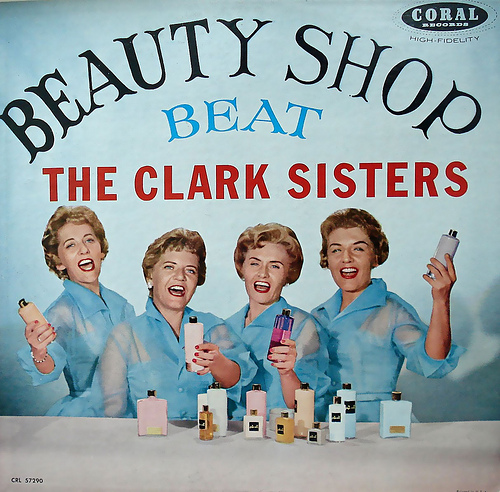 vintage music record cover beauty shop beat the clark sisters