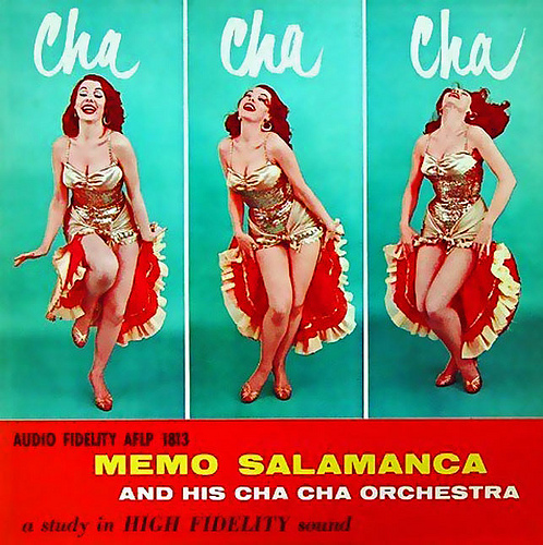 vintage music cha cha cha record cover