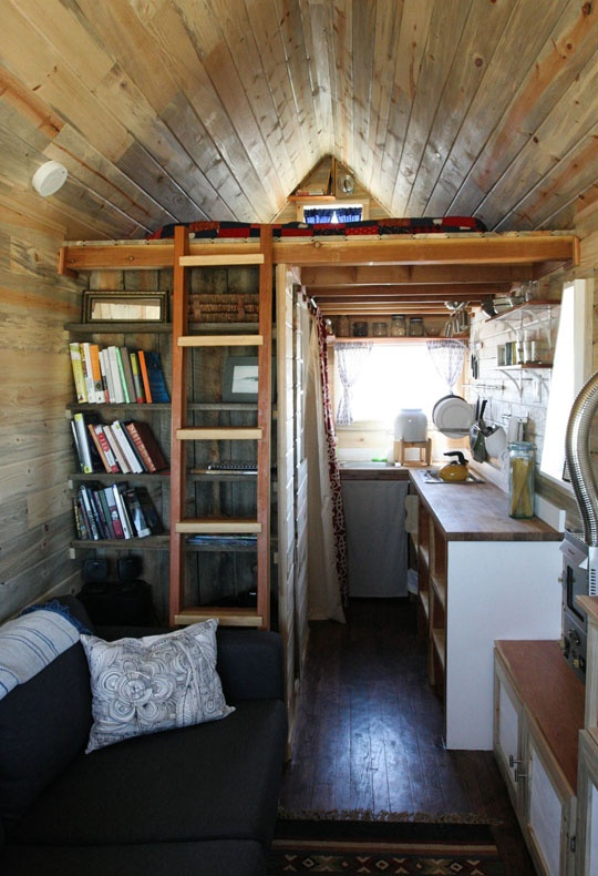 Could you live in a tiny house and then we saved - Tumbleweed tiny house interior ...