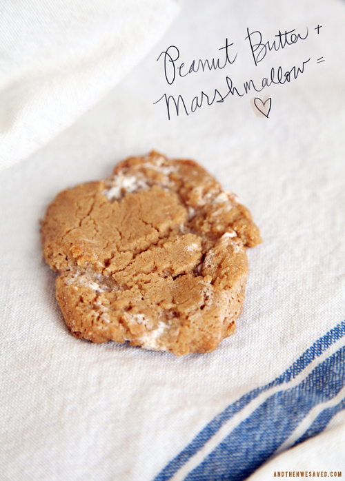 peanut butter and marshmallow cookie recipe