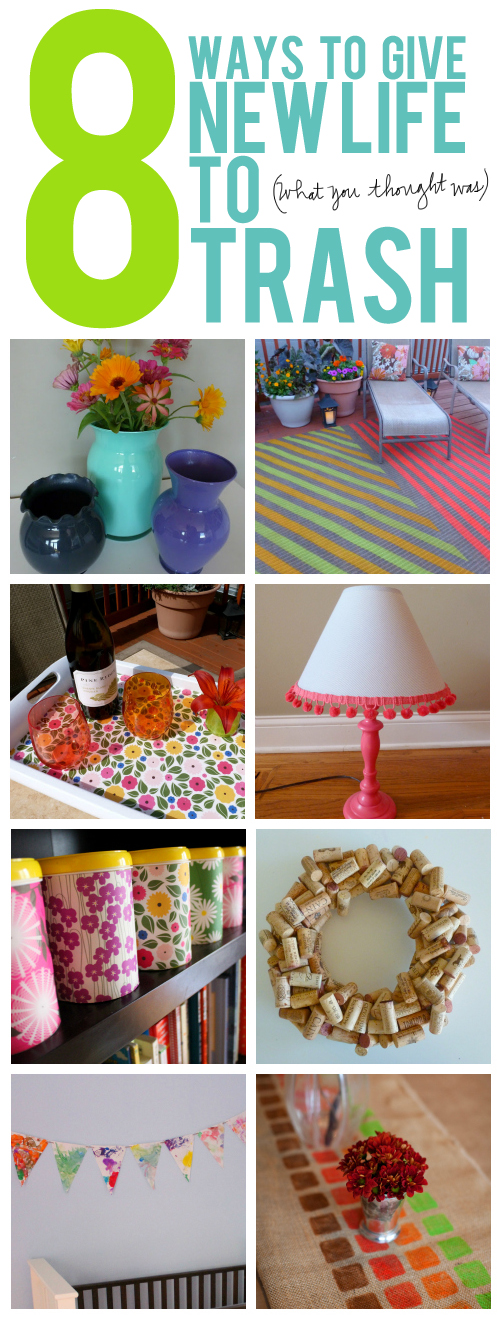8 clever DIYs to give new life to (what you thought was) trash