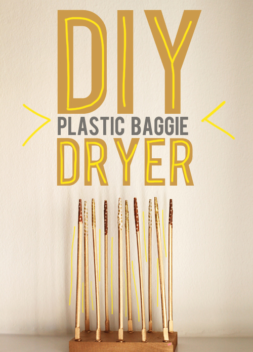 Very best See Ya Soggy Bags! DIY Plastic Baggie Dryer - And Then We Saved NG74