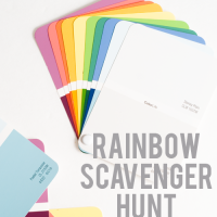 rainbow scavenger hunt free weekend activity