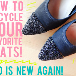DIY how to upcycle shoes
