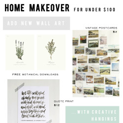 cheap home makeover