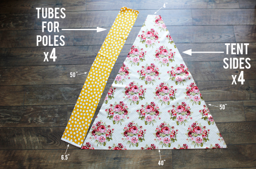 how to cut out for 4 sided teepee