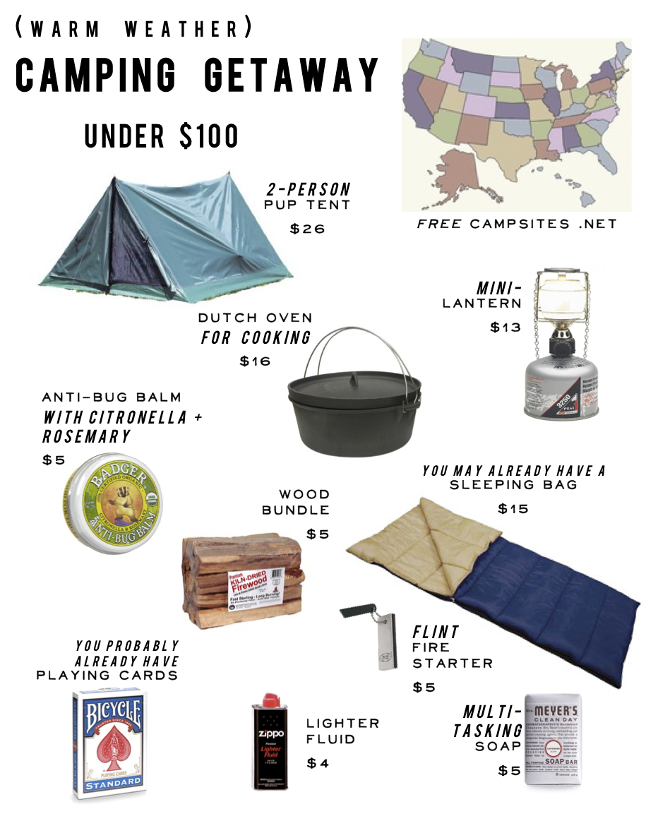cheap camping ideas