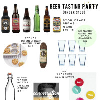 how to throw a beer tasting party at home
