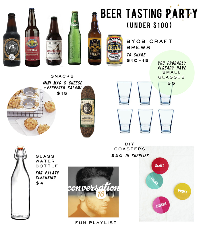 How to host a beer tasting party: The party set up With all the important stuff out of the way, let's talk about setting up your beer tasting—because, if you ask me, that's part of the fun too! I love the free Beer Tasting Party Printables at Catch My Party (above), especially for the scorecard, though all the decor printables are great.