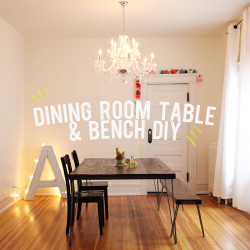 dining room table and bench DIY