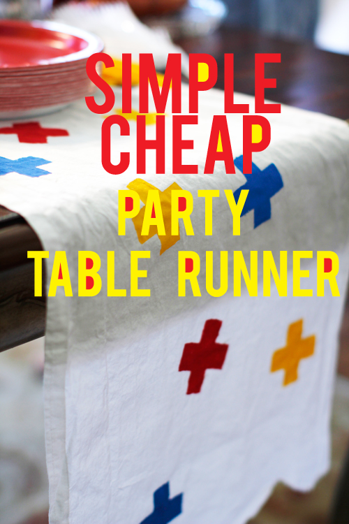 how to make a simple cheap party table runner