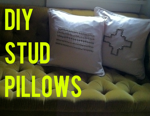 DIY stud pillows