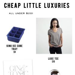 Cheap luxuries - And Then We Saved