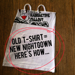 old tshirt new nightgown how to