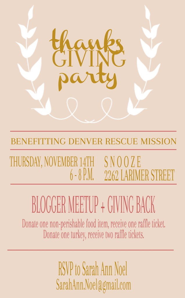 denver thanksgiving party
