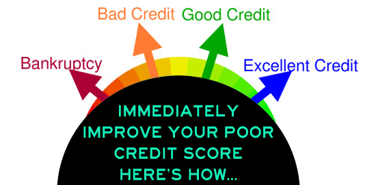 Immediately Improve Your Poor Credit Score - Here's How!