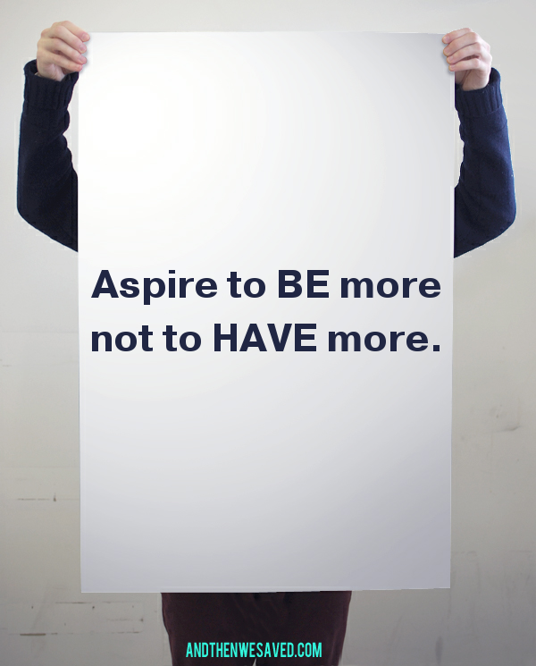 aspire to be more