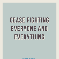 cease fighting